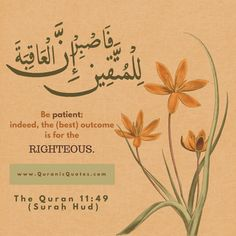 Knowing Sabr 7 Quranic Verses About Patience Quranic Quotes The Quran 11:49 (Surah Hud)