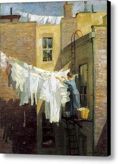 A Womans Work Canvas Print / Canvas Art By John Sloan