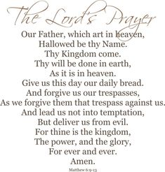 Sunday Worship Music: The Lord's Prayer, Andrea Bocelli and Mormon Tabernacle Choir Our Father Prayer, Prayer Quotes, Lord's Prayer, Prayer Verses, Good Prayers, Tabernacle Choir, Thy Kingdom Come, Sunday Worship, Thy Will Be Done