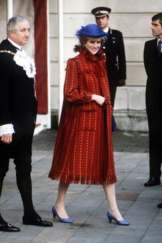 November 5, 1981: Princess Diana with Prince Charles attended a private luncheon with the Lord Mayor of London, at the Guildhall in London. Diana looked happy and relaxed as the announcement that she was expecting her first baby had only been made two hours before she and Charles attended the luncheon.