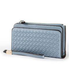2c0a392045b3 Love this Blue Amina Wristlet on #zulily! #zulilyfinds Purse Styles, Zip  Around