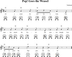 Pop! Goes the Weasel 6-hole Ocarina Tab