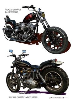 """""""Real 70' Chopper"""" by MOTORROCK and XLH1000 """"Shorty"""" by EAST URBASN"""
