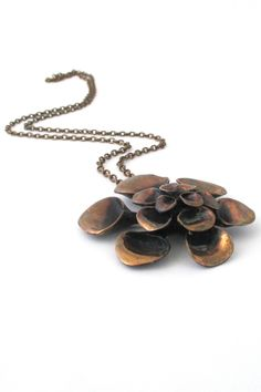 Hannu Ikonen large'Reindeer Moss' pedant necklace #bronze #Finland #necklace