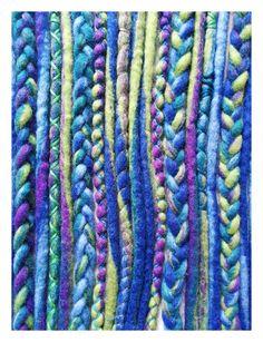 """Weiteres - Wool-Dreads """"Jungle"""" -lang- 15Stk. - ein Designerstück von Katinka-Dreads bei DaWanda"""