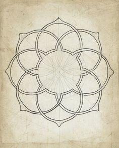 Dibujo de geometría once / / archivo de impresión