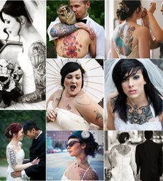 Why hide your tattoos? And why should guys have to take out their earrings? Be yourself on your wedding day... It's your's.