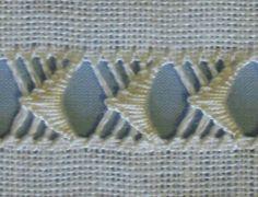 dr thr sampler buttonhole stitch 2 - stitchin fingers LACE - already under Embroiderdrawn thread work Hardanger Embroidery, Hand Embroidery Stitches, Lace Embroidery, Embroidery Techniques, Cross Stitch Embroidery, Embroidery Patterns, Loom Patterns, Needlepoint Stitches, Needlework