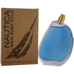 NauticaAquaRushGold http://www.perfumes.com/nautica-aqua-rush-gold-nautica-men-3-4-oz-2/ Your Price: $39.90 (Retail Price: $65.00, 39% OFF) Launched by the design house of Nautica. This masculine fragrance features a blend of bergamot, lime, mandarin, grapefruit, peppercorn, nutmeg, jasmine, water lily, sea moss, amber, cedarwood, sandalwood, vetiver, and musk.