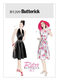 B5209 | Misses' Deep V-Neck Dress Sewing Pattern | Butterick Patterns