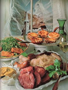 Berner Platte, Chäschüechli           Swiss food, 1966