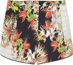 Just Cavalli Printed crepe shorts