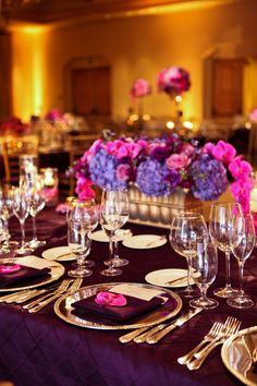 Jessica and Beau's radiant orchid wedding featured some of the most gorgeous floral arrangements we've seen – it's positively to die for! Purple Orchid Wedding, Purple Orchids, Wedding Flowers, Shower Party, Baby Shower Parties, Moroccan Theme Party, Mehndi Party, Baby Shower Purple, Hotel Wedding