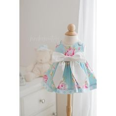 Baby Rose Dress Blue