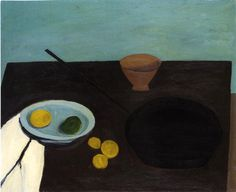 William Scott, Still Life with Frying Pan, 1946 or Oil on canvas, 66 × cm / 26 × 32 in, Whereabouts unknown Frank Auerbach, Figure Painting, Painting & Drawing, Graham, Still Life Artists, Dry Red Wine, Italian Artist, Everyday Objects, Be Still