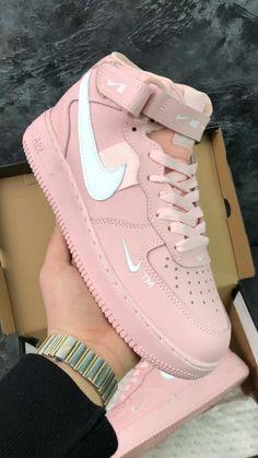 Neon Nike Shoes, Nike Neon, Nike Shoes Air Force, Nike Air Force 1 Outfit, White Nike Shoes, Pink Shoes, Jordan Shoes Girls, Girls Shoes, Sneakers For Girls