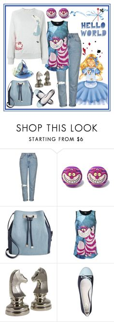 """""""Go Ask Alice..."""" by pixidreams ❤ liked on Polyvore featuring Topshop, INC International Concepts, Flamant and Olympia Le-Tan"""