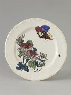Lambert Henri Assiette du service de table dit « Rousseau » Creil, musée Gallé-Juillet
