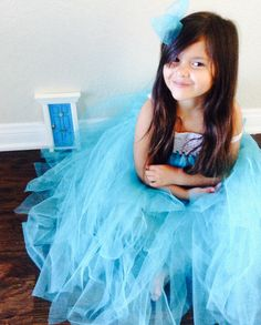 Matching tutu dress and fairy door by Fairy Avenue.
