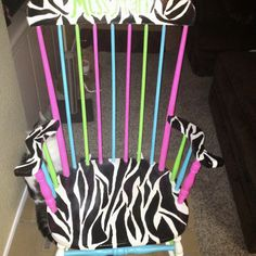 My hand painted rocking chair that goes with the ever so popular zebra theme of my classroom.