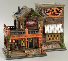department 56 snow village halloween halloween harley crow bar no box