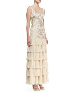655190b551 Sue Wong Sleeveless Embroidered   Sequined Bodice Gown