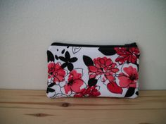 Zipper Purse Cosmetic Purse in Red Black and White by MoiPochette, $5.99