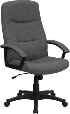 High Back Gray Fabric Executive Swivel Office Chair BT-134A-GY-GG by Flash Furniture