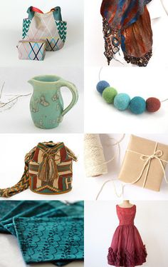 Teal and Rust by Naomi on Etsy--Pinned with TreasuryPin.com