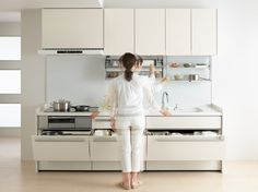 Easy-to-use kitchen - image 2 of 2 Declutter, Organize, Kitchen Images, Kitchen Design, House Design, Homes, Pretty, Easy, Cuisine Design