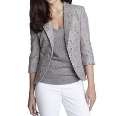 Lace blazer• Perfect condition. Worn once. The Limited Jackets & Coats Blazers