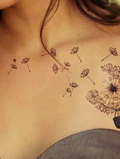 Tattoo-Journal.com - THE NEW WAY TO DESIGN YOUR BODY | 40 Beautiful Dandelion Tattoos designs and meaning – Flowering plant | http://tattoo-journal.com