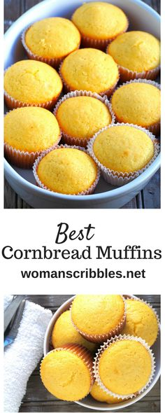 These moist and buttery cornbread muffins are addictive treats that you can make in no time. Simple and easy, this recipe is definitely a keeper. Fun Baking Recipes, Best Dessert Recipes, Muffin Recipes, Fun Desserts, Sweet Recipes, Delicious Desserts, Cooking Recipes, Yummy Food, Amazing Recipes