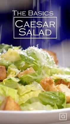Homemade Ceasar Salad, Homemade Caesar Salad Dressing, Salad Dressing Recipes, Ceaser Dressing Recipe, Ceaser Salad Recipe, Healthy Salad Recipes, Cooking Recipes, Side Dish, Cooking Tips