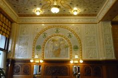 Art Deco Ambience. Imperial Café, Prague, Czech Republic. http://extratravelbag.com/2014/04/prague-packed-but-perfect/
