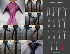 Necktie Eldredge Knot. Qui  potete ammirare e apprendere il Necktie Eldredge Knot, un elegante nodo per cravatta. Tutorial di Blacklapel.