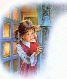 quenalbertini: Martine by Marcel Marlier Marcel, Book Illustration, Illustrations, Kid Poses, Angel Art, People Art, Vintage Children, Vintage Postcards, Line Drawing