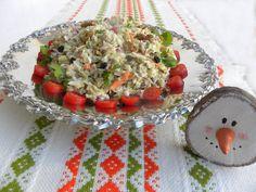 Λαχανοσαλάτα με Ρόδι και Ξηρούς Καρπούς - Κοπιάστε .. στην Κουζίνα μου Coleslaw Salad, Creamy Coleslaw, Vegetarian Cabbage, Cabbage Salad, Pomegranate Seeds, Honey Lemon, Salad Dressing, Bruschetta, Raisin