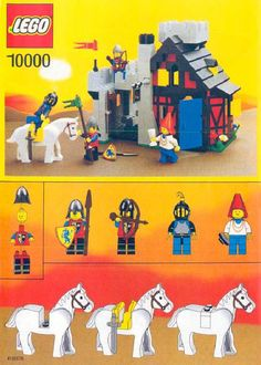 Thousands of complete step-by-step printable older LEGO® instructions for free. Here you can find step by step instructions for most LEGO® sets. Lego Robot, Lego Moc, Legoland, Lego Sets, Gi Joe, Lego Castle Instructions, Lego Chevalier, Construction Lego, Lego Knights