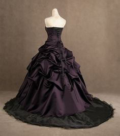 Purple Wedding Dress, Plum Wedding Dress: Obviously, I'm not interested in the dress; I'm hunting down a color and the dress is getting close to it.