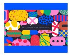 © on Giacomo Bagnara Flat Illustration, Character Illustration, Graphic Design Illustration, Cute Icons, Poster S, Abstract Shapes, Fish Art, Illustrations And Posters, Motion Design
