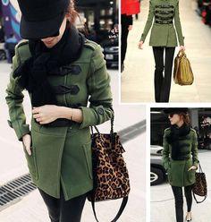 green coat.Military color