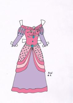 Ariel paperdoll dress #3 by Etchingz on deviantART