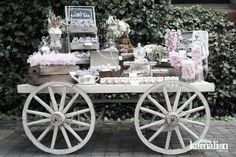 www.kamalion.com.mx - Mesa de Dulces / Candy Bar / Postres / Wedding / Boda / Rosa & Gris / Pink & Gray / Vintage / Rustic Decor.