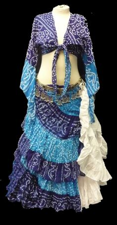 batik. boho bohemian hippie gypsy fashion style. blue