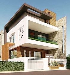 Photo by Amazing Architecture on February Image may contain: house, sky, plant, tree and outdoor House Outer Design, Two Story House Design, House Outside Design, Bungalow House Design, Modern Bungalow, House Front Design, Modern Exterior House Designs, Modern House Facades, Modern House Design