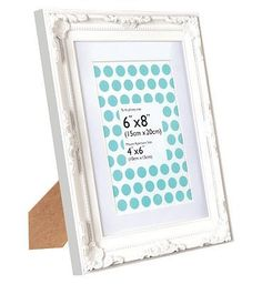 Anker Decorative White Photo Frame - 6 x 8 / 4 40 Advantage card points. Display your favourite photos with this beautifully designed white wooden photo frame. The frame holds a 4x6 inch photo with the mount in place, or a 6x8 inch photo with the  http://www.MightGet.com/april-2017-1/anker-decorative-white-photo-frame--6-x-8--4.asp