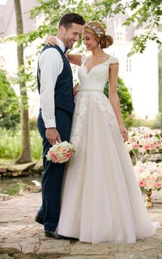 5280 Romantic Cap Sleeve Wedding Dress