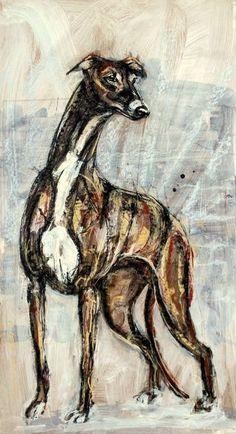 Martial Robin peintures Greyhound Art, Italian Greyhound, Skinny Dog, Adoption, Dog Artwork, Whippets, Four Legged, Beautiful Dogs, 50 Shades