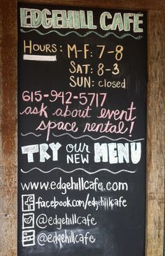 There is nothing new about using a chalkboard, but boy can it be effective!